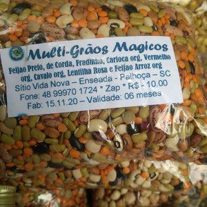 Grãos Mágicos, com feijao preto, carioca, cavalo, grao de bico, lentilha marrom, lentilha rosa, moyashi