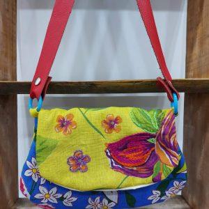 10 - Bolsa de Chitão amarela e azul